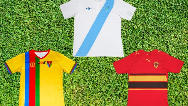 Can you identify these international football shirts?