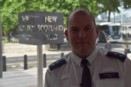 Article thumbnail: Inspector Jim Cole experienced his most challenging moment in his 18-year policing career by being one the first responders on the scene of the attack. Photo: Met Police