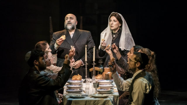 Omid Djalili as Tevye and Tracy-Ann-Oberman as Golde in 'Fiddler on the Roof.' Photo: Johan Persson