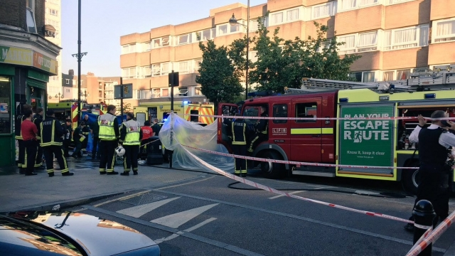 Emergency services responded to a suspected acid attack in East London