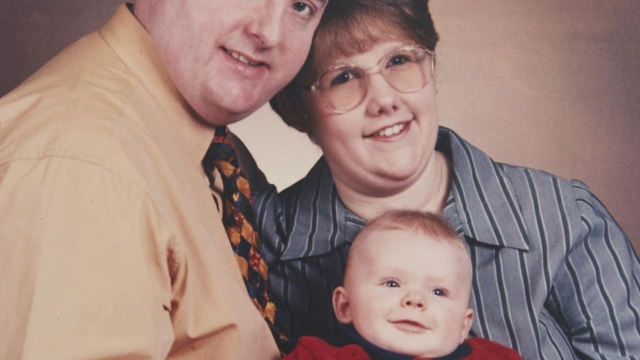 Murderer Michael Danaher with his ex-wife Elaine and son Ryan [Photo: Channel 4]