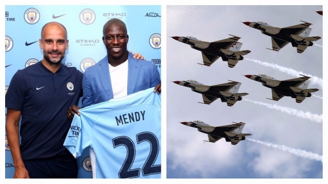 Manager Pep Guardiola has spent over £150m on defensive players this summer (Pictures: Man City/Getty)