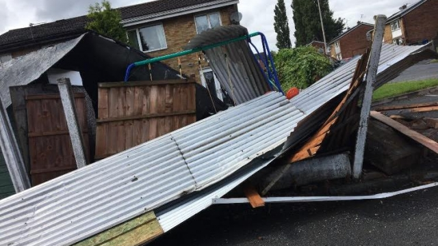 Sheds and fence panels were ripped down (Photo: Kirsty Roe)