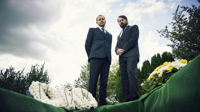 Robert Webb and David Mitchell return to their town of their teenage years in the new sitcom 'Back'. Photo: Channel 4