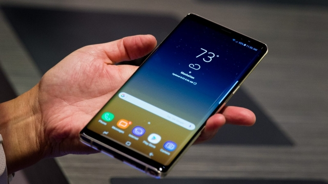 The new Samsung Galaxy Note8 smartphone. Photo: Getty.