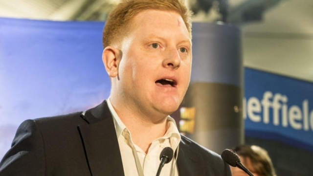 Jared O'Mara after defeating Nick Clegg in Sheffield Hallam