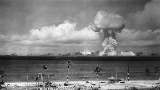 A nuclear test in the Bikini Atoll in 1945 (Photo: Getty)