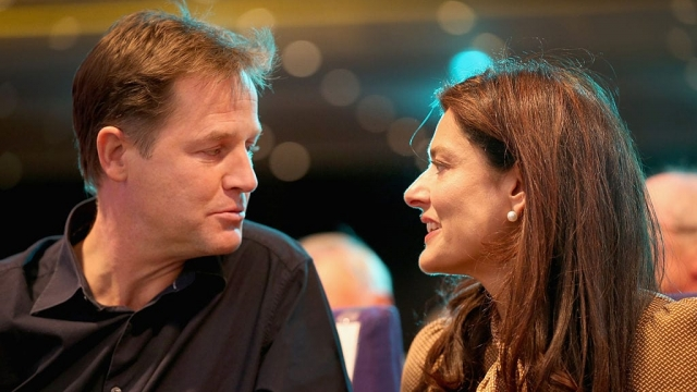 Nick Clegg and Miriam Gonzalez-Durantez have revealed their son's blood cancer and are calling for the public to support research (Photo: Getty)