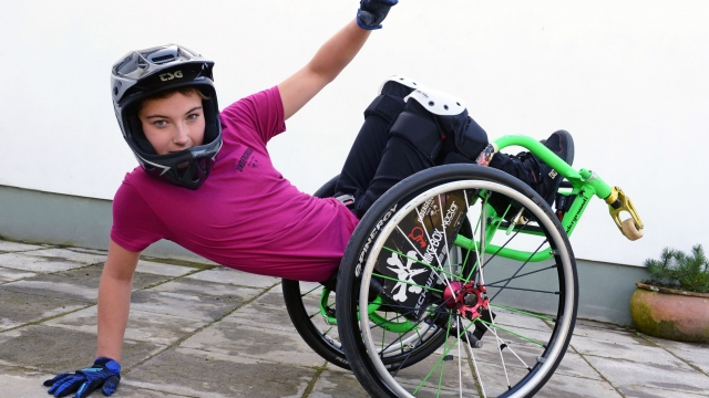Lily Rice, 13, is crowdfunding in hopes of becoming the first British person to take part in the Wheelchair Motocross world championships (Photo: Gareth Davies Photography)