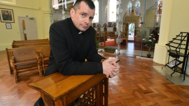 Father Marc Lyden-Smith of St Mary's Church in Sunderland