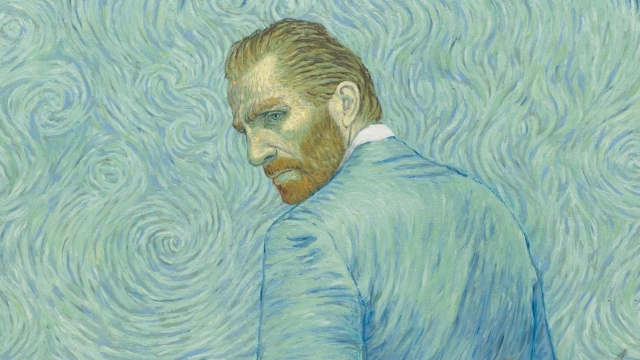 A still of Van Gogh from the new film, Loving Vincent