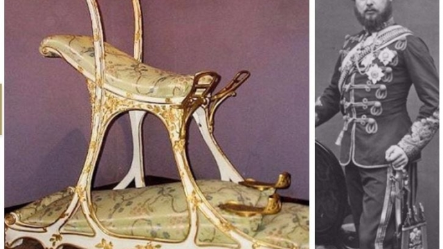The future Edward VII - or Bertie - and his sex chair