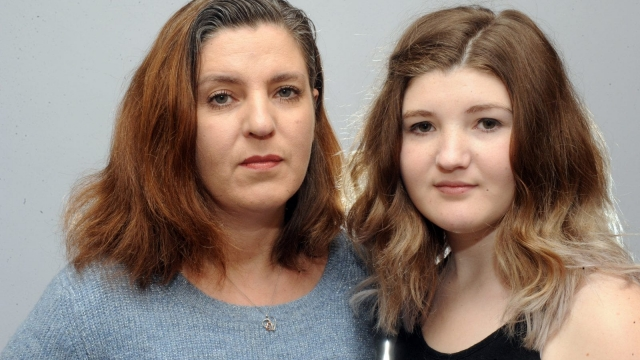 Jamie Still's mother, Karen Strong, and his sister Rebecca. (Photo: Yorkshire Post)