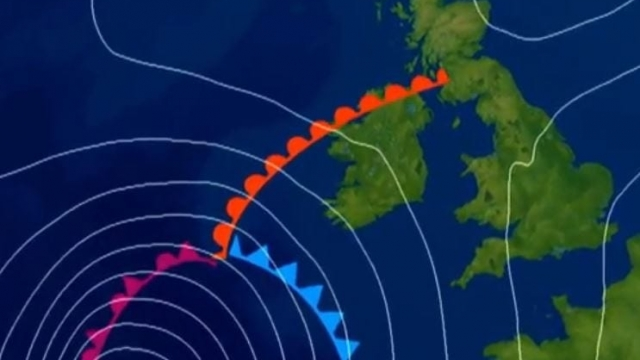 Hurricane Ophelia in the Atlantic is set to hit Ireland and the UK at the end of the weekend (Photo: Met Office)