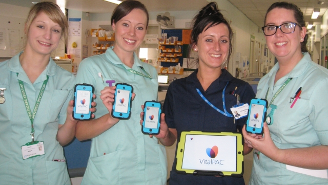 Nurses at East Sussex Healthcare NHS Trust with the technology they say is saving lives.