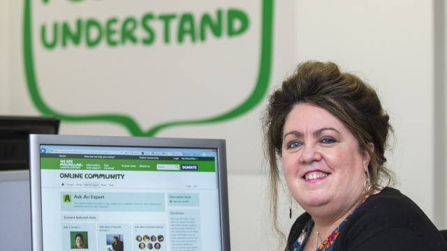 Macmillan Digital Nurse Specialist Ellen McPake dedicated to answering questions, from people affected by cancer, on Macmillan's social platforms and online community.