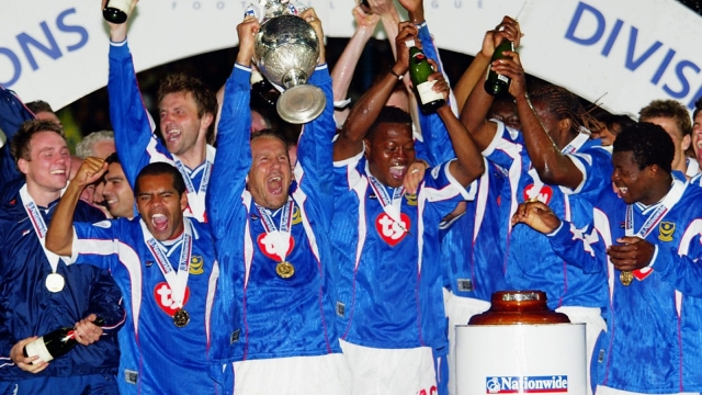 Portsmouth become Nationwide League Division One champions in 2003