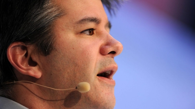 """A picture taken on January 18, 2015 shows Travis Kalanick, co-founder of the US transportation network company Uber, speaking during the opening of the Digital Life Design (DLD) Conference in Munich, southern Germany. The car-sharing start-up Uber can create as many as 50,000 jobs in Europe this year as part of a """"new partnership"""" with European cities, its chief executive told at the conference in Munich. AFP PHOTO / DPA / TOBIAS HASE +++ GERMANY OUT (Photo credit should read TOBIAS HASE/AFP/Getty Images)"""