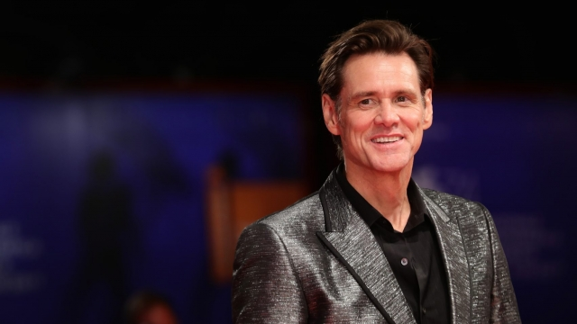 Jim Carrey at the premiere of 'Jim & Andy: The Great Beyond' in Venice, September, 2017. Photo: Vittorio Zunino Celotto/Getty