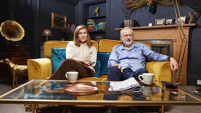 Jeremy Corbyn appeared alongside Jessica Hynes for a Celebrity special of Gogglebox