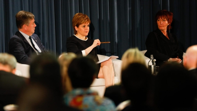 Nicola Sturgeon was speaking at the National Economic Forum in Edinburgh (Photo: Scottish Government)