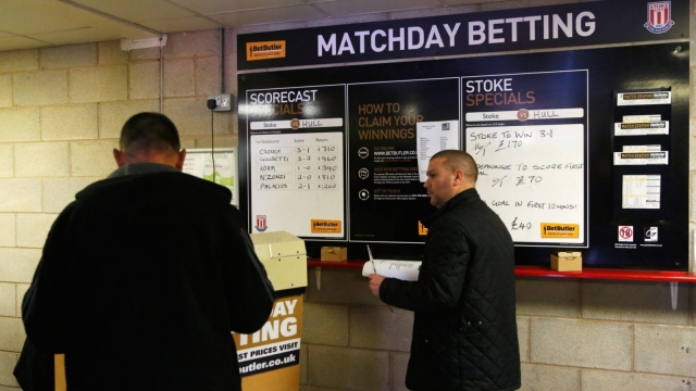 Gambling advertising is pervasive in football (Photo: Getty)