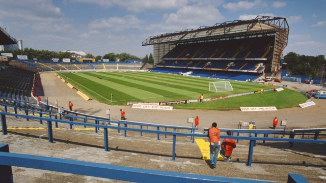 Which Premier League team used to run out at this ground?