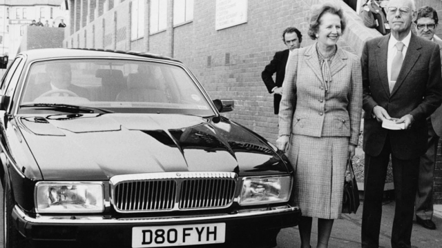 As Prime Minister Margaret Thatcher was one of a handful of ministers formally entitled to a Jaguar. But the rules did not stop senior ministers lobbying Downing Street for their own Jaguar. (Photo: Getty)