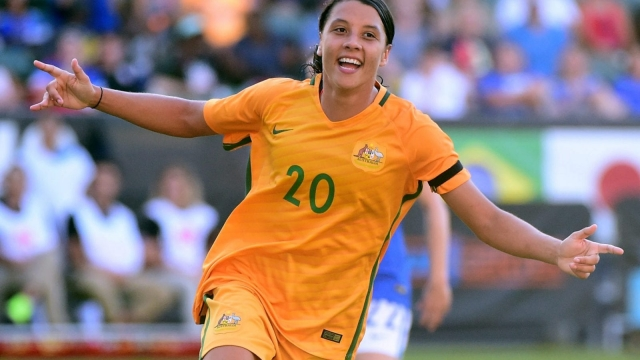 Footballer Sam Kerr won Australia's version of Sports Personality of the Year this week (Picture: Getty Images)