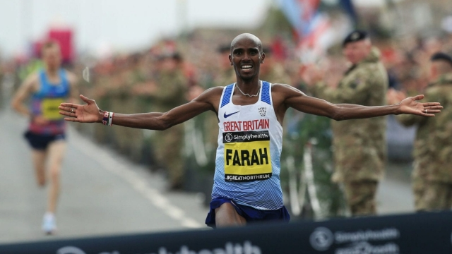 Sir Mo Farah is teaming up with Joe Wicks to help runners train for the London Marathon (Getty Images)