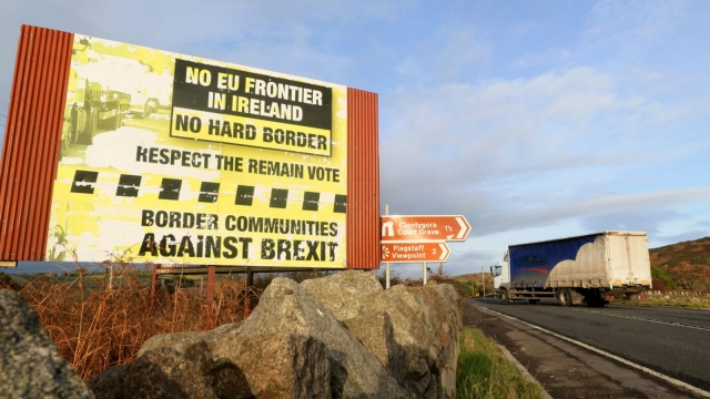 Trouble at the border in Ireland over Brexit talks (Photo: PAUL FAITH/AFP/Getty Images)