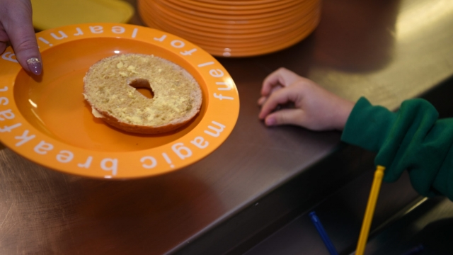 The special bagels are popular at the breakfast club at Ormsgill Nursery and Primary School