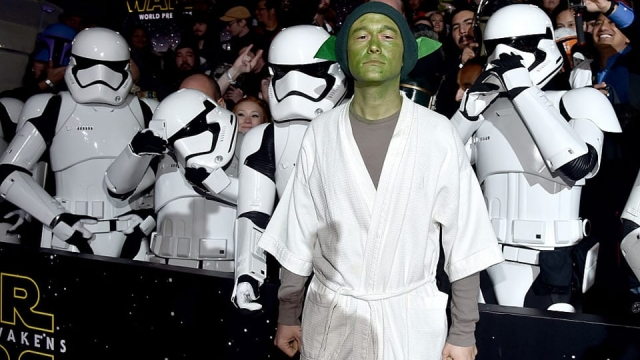 Joseph Gordon Levitt at the premiere of Star Wars: The Force Awakens