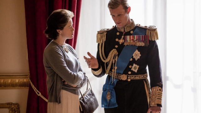 Article thumbnail: Matt Smith and Claire Foy as the Queen and Prince Philip in 'The Crown'. Photo: Netflix