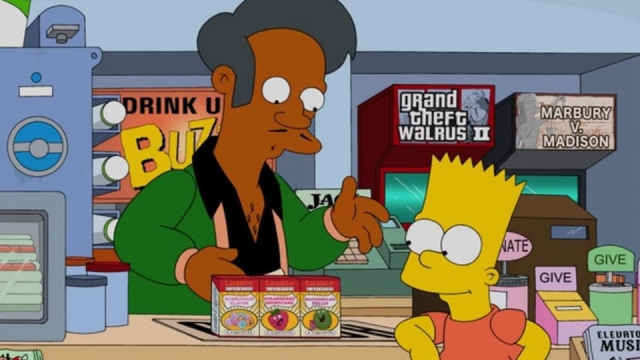 Apu Nahasapeemapetilon is the Indian immigrant proprietor of the Kwik-E-Mart in The Simpsons