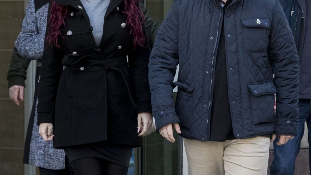 Jayda Fransen and Paul Golding have had their Twitter accounts suspended (PA)
