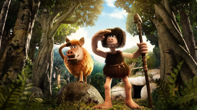 Hognob and Dug (voiced by Eddie Redmayne) from Early Man