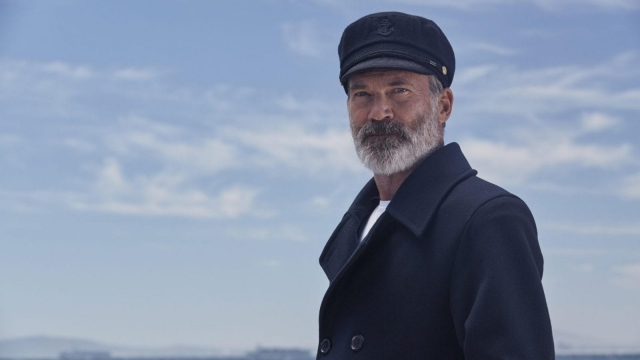 A new contemporary,salt-and-pepper Captain – a distinguished difference to the previous white bushy beard that previously graced our screens. (Photo: Molly Minter, Birds Eye)
