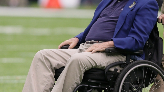 George HW Bush in 2016 (Photo by Bob Levey/Getty Images)