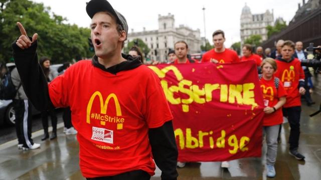 McStrike demonstrators last September (Photo: Getty)