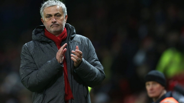 Jose Mourinho watched his Manchester United side cruise past Stoke and close the gap on Manchester City to 12 points (Getty Images)
