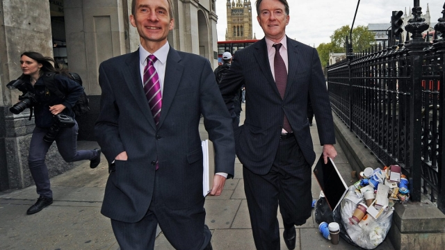 The battle for centrism was once fought by Peter Mandelson and Anderew Adonis.(CARL DE SOUZA/AFP/Getty Images)