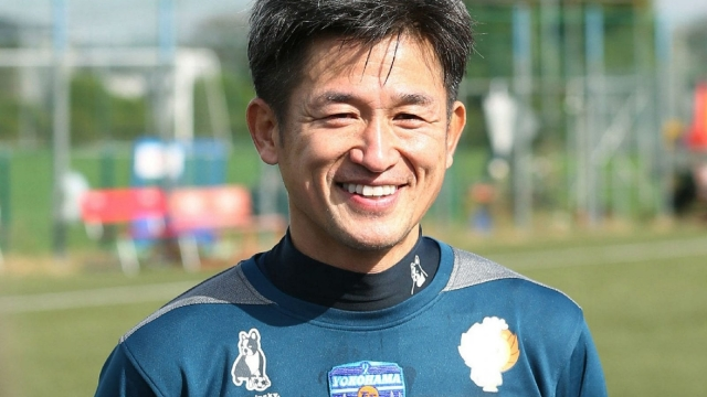 Kazuyoshi Miura, 50, has promised to 'keep growing' as he signs a new deal with Yokohama FC (Getty Images)