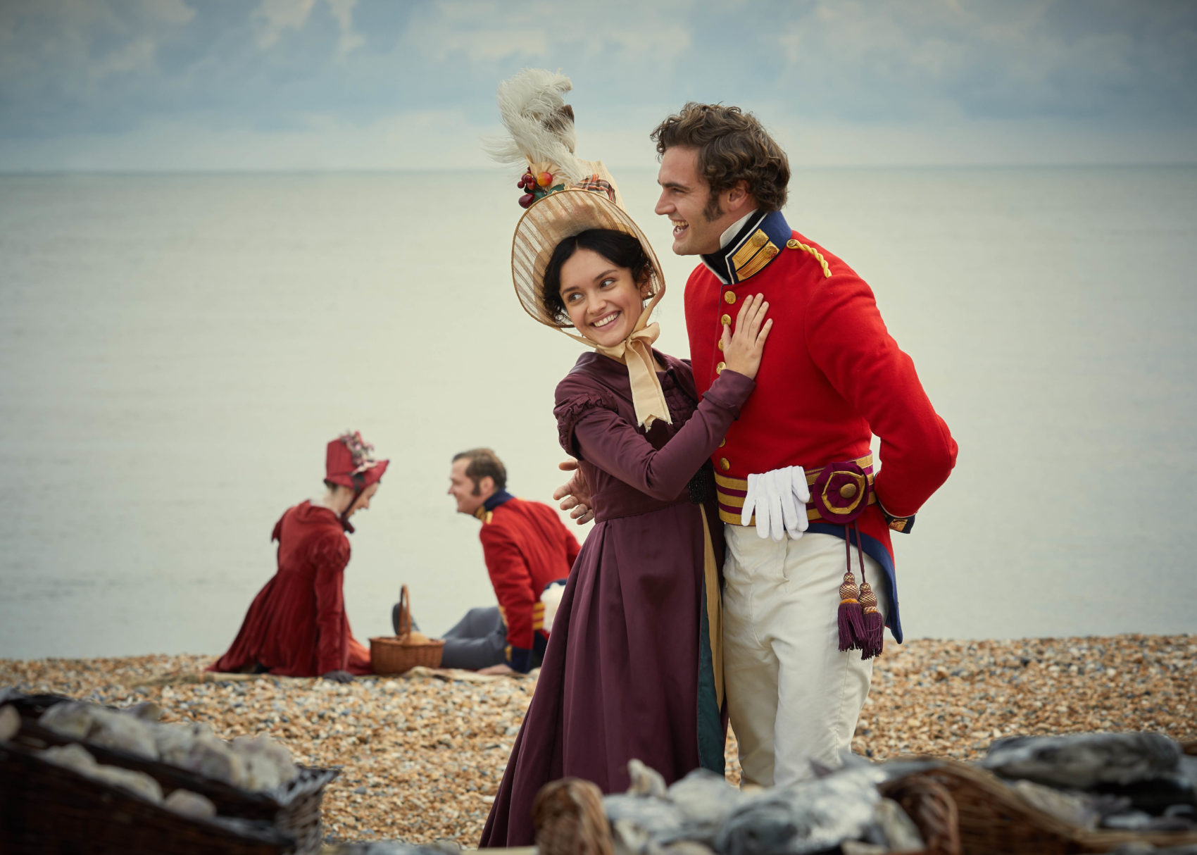 Olivia Cooke and Tom Bateman star in Vanity Fair (Photo: ITV)