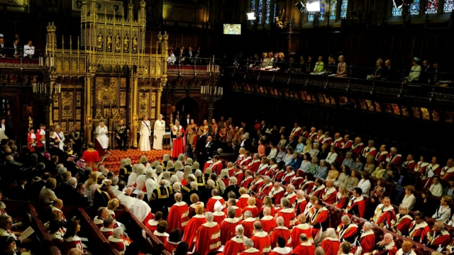 Queen Elizabeth reads the Queen's Speech during the State Opening of Parliament in the House of Lords. Let's hope the peers didn't swear in front of Her Majesty (Reuters)