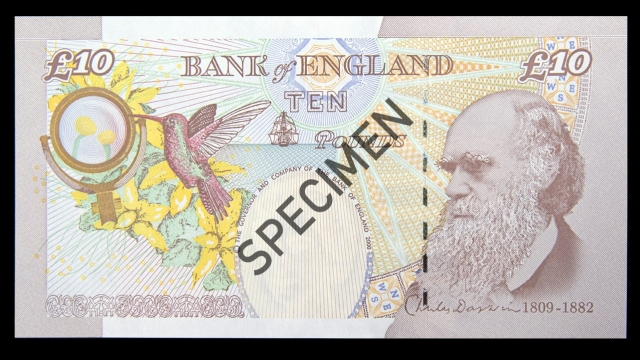 The old £10 note features an image of Charles Darwin (Bank of England)