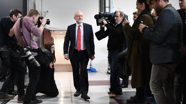 Jeremy Corbyn arrives to make a keynote speech as he sets out Labour's position on Brexit, at the National Transport Design Centre in Coventry (Photo: Getty)