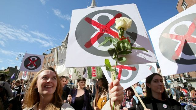 Protesters calling for the legalising of abortion in Ireland last year (Photo: Getty)