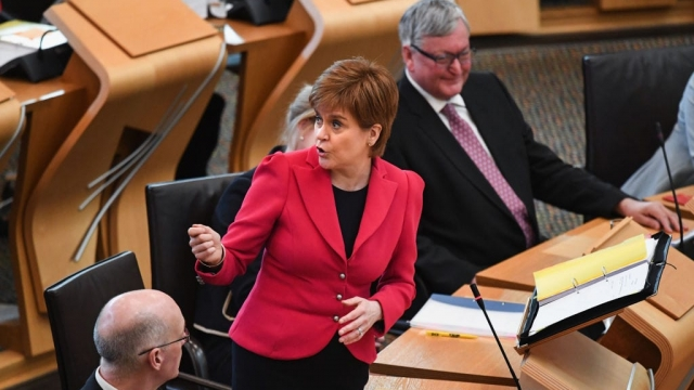 Nicola Sturgeon came under pressure over policing at FMQs (Photo: Getty)