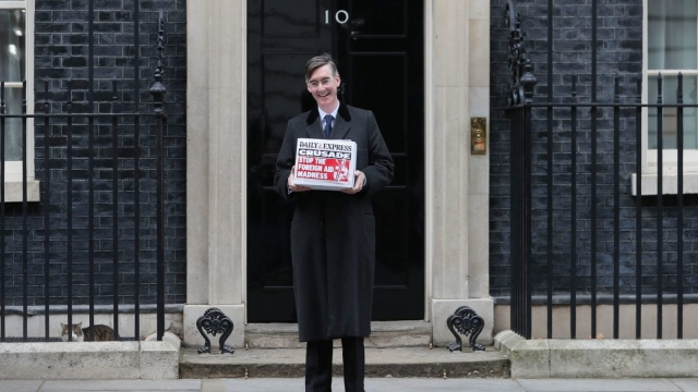 Jacob Rees-Mogg is leading the rebellion against the Brexit plans (Photo credit: DANIEL LEAL-OLIVAS/AFP/Getty Images)